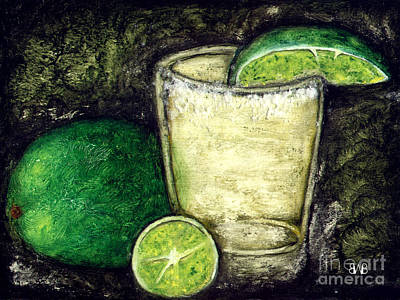 Painting - Tequila With Salt And Lime by Brian Bingham