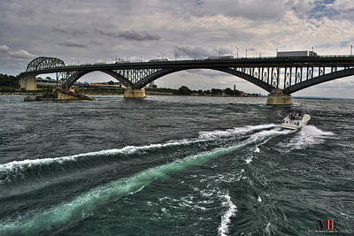 Photograph - 002 Breaking Waves  In The Niagara River by Michael Frank Jr