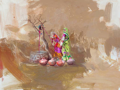 Of Hijabs Painting - 002 Sindh  by Maryam Mughal