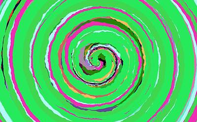 Painting - 0027 - Spiral by REVAD David Riley