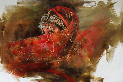 Of Hijabs Painting - 002 Pakhtun B by Mahnoor Shah