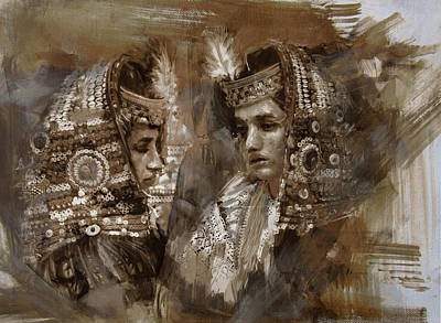 Painting - 004 Kazakhstan Culture by Mahnoor Shah