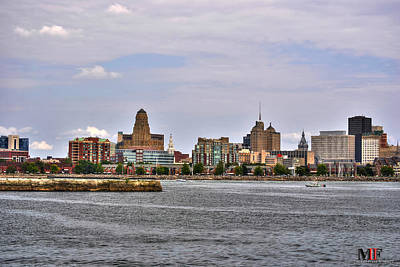 Photograph - 005 Cityscape By Sea Buffalo Ny by Michael Frank Jr