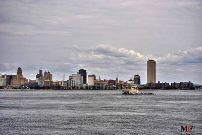 Photograph - 006 Cityscape By Sea Buffalo Ny by Michael Frank Jr