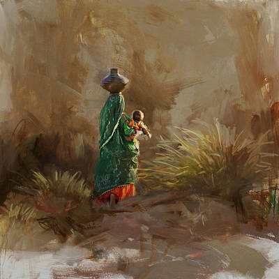 Of Hijabs Painting - 006 Sindh by Maryam Mughal