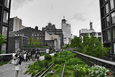 Celebrity Pop Art Potraits - 006 Walking The Nyc High Line by Michael Frank Jr