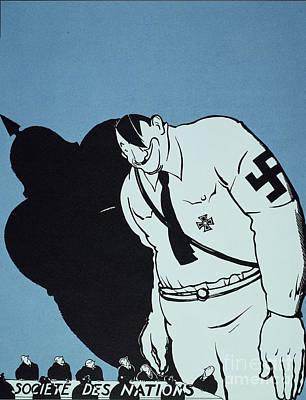 Adolf Painting - Adolf Hitler Cartoon, 1935 by Granger