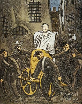 Benito Mussolini Cartoon Art Print by Granger