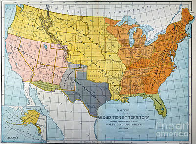 Louisiana Purchase Paintings Fine Art America - Map of us in 1776