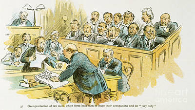 Painting - Litigation Cartoon by Granger