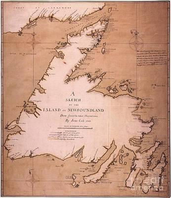 Cook: Newfoundland, 1763 Art Print by Granger