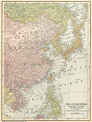 Map: East Asia, 1907 Art Print by Granger