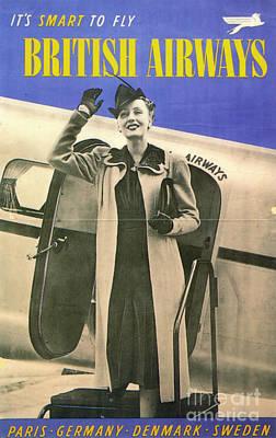 Airways Painting - British Airways, 1938 by Granger