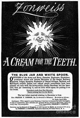 Fonweiss Toothpaste, 1887 Print by Granger