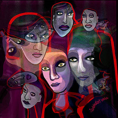 Digital Art - 2636   Night In Their Eyes A by Irmgard Schoendorf Welch