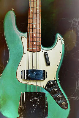 Photograph - 008.1834 Fender 1965 Jazz Bass Color by M K Miller