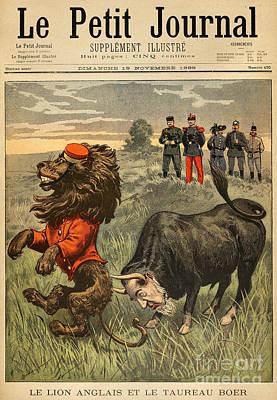 Boer War Cartoon, 1899 Print by Granger