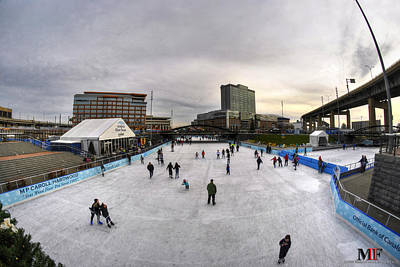 Iphone Case Photograph - 01 Ice Skating At Canalside Dec2015 by Michael Frank Jr