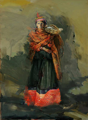 Foundation Painting - 010 Kazakhstan Culture by Maryam Mughal