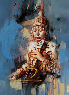Painting - 011 Kazakhstan Culture by Maryam Mughal