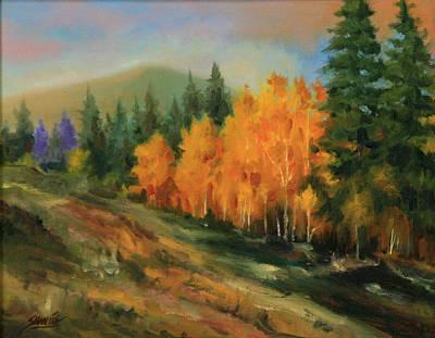 011016-1114  Autumn Aspens Art Print by Kenneth Shanika
