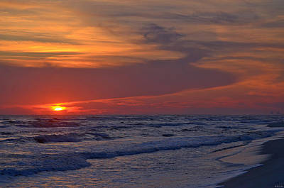 Photograph - 0112 Sunset Swirls On Navarre Beach by Jeff at JSJ Photography