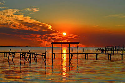 Photograph - 0113 Fiery Sunset On Santa Rosa Sound by Jeff at JSJ Photography