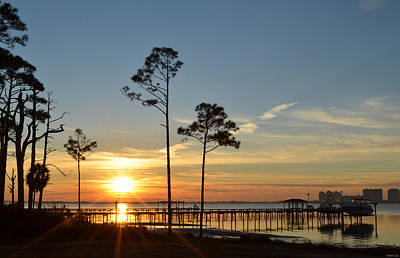 Photograph - 0114 Brilliant Sunrise On Santa Rosa Sound by Jeff at JSJ Photography