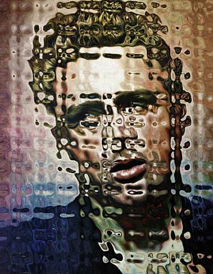 Limited Edition Mixed Media - 0115 James Dean By Nixo by Nicholas Nixo