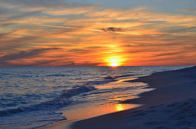 Photograph - 0115 Sunset Clouds On Navarre Beach by Jeff at JSJ Photography