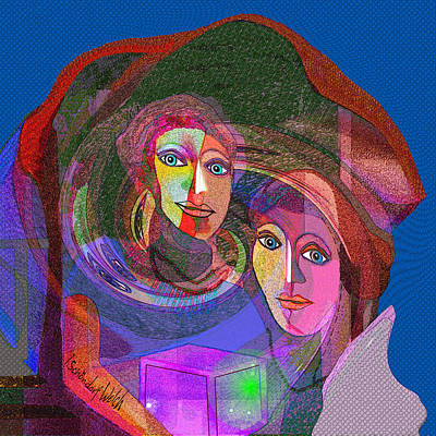 Digital Art - 012 - The Keepers Of Pandoras Magic Box 2017 by Irmgard Schoendorf Welch