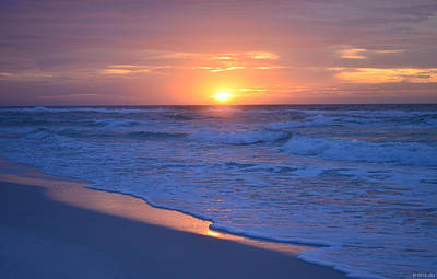 Photograph - 0121 Sunrise Waves On Navarre Beach by Jeff at JSJ Photography