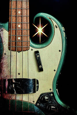 Photograph - 012.1834 Fender 1965 Jazz Bass Color by M K Miller