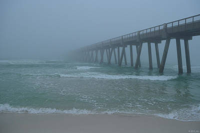 Photograph - 0122 Disappearing Pier In Infinite Fog by Jeff at JSJ Photography
