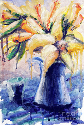 Painting - 01353 Daffodils by AnneKarin Glass