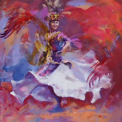 Culture Painting - 014 Kazakhstan Culture by Maryam Mughal