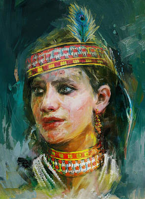 Painting - 015 Kazakhstan Culture by Maryam Mughal