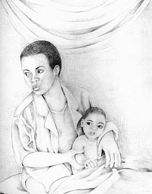 Afro American Art Drawing - 018 by Candace Williams