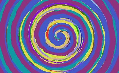 Painting - 0182 - Spiral by REVAD David Riley