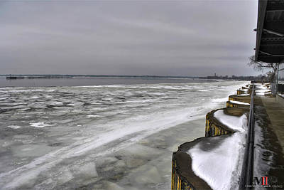 Photograph - 02 Half Frozen Waters Of Erie by Michael Frank Jr
