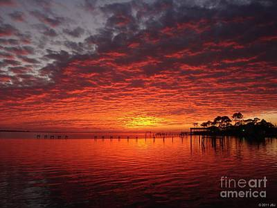 Photograph - 0205 Awesome Sunset Colors On Santa Rosa Sound by Jeff at JSJ Photography