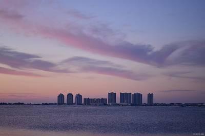 Polaroid Camera - 0223 Navarre Beach Skyline with Purple Sunrise Colors by Jeff at JSJ Photography