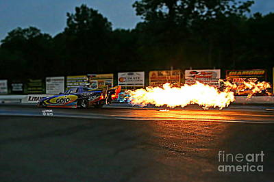 Wall Art - Photograph - 0225 08-04-2013 Lebanon Valley Dragway Night Of Fire by Vicki Hopper
