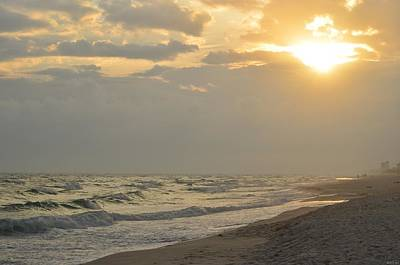 Photograph - 0227 Cloudy Navarre Beach Sunset by Jeff at JSJ Photography