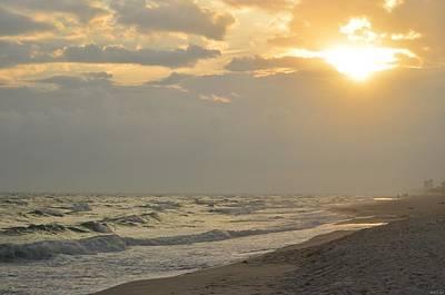 Photograph - 0227 Cloudy Navarre Beach Sunset by Jeff at JSJ Photography