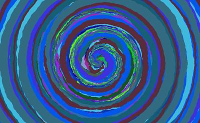 Painting - 0242 - Spiral by REVAD David Riley