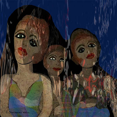 025 - Three  Young Girls   Art Print