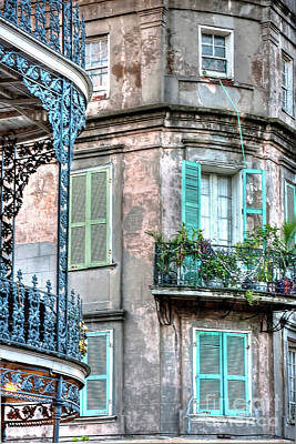 French Quarter Window Photograph - 0254 French Quarter 10 - New Orleans by Steve Sturgill
