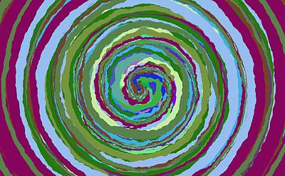 Painting - 0284 - Spiral by REVAD David Riley