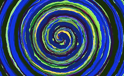 Painting - 0295 - Spiral by REVAD David Riley